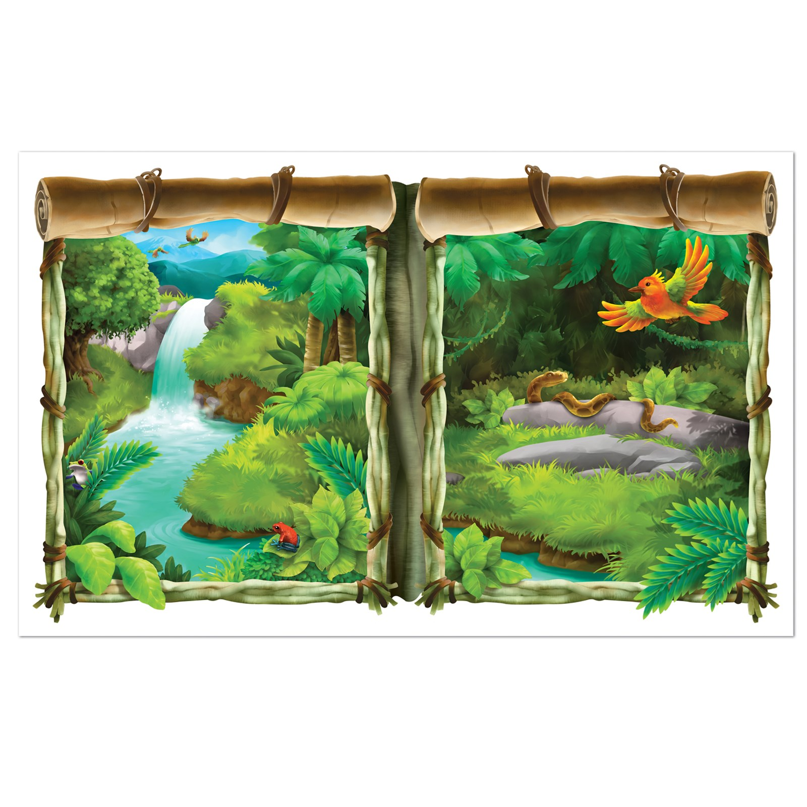 Jungle insta view window prop - Princess party wall decorations ...