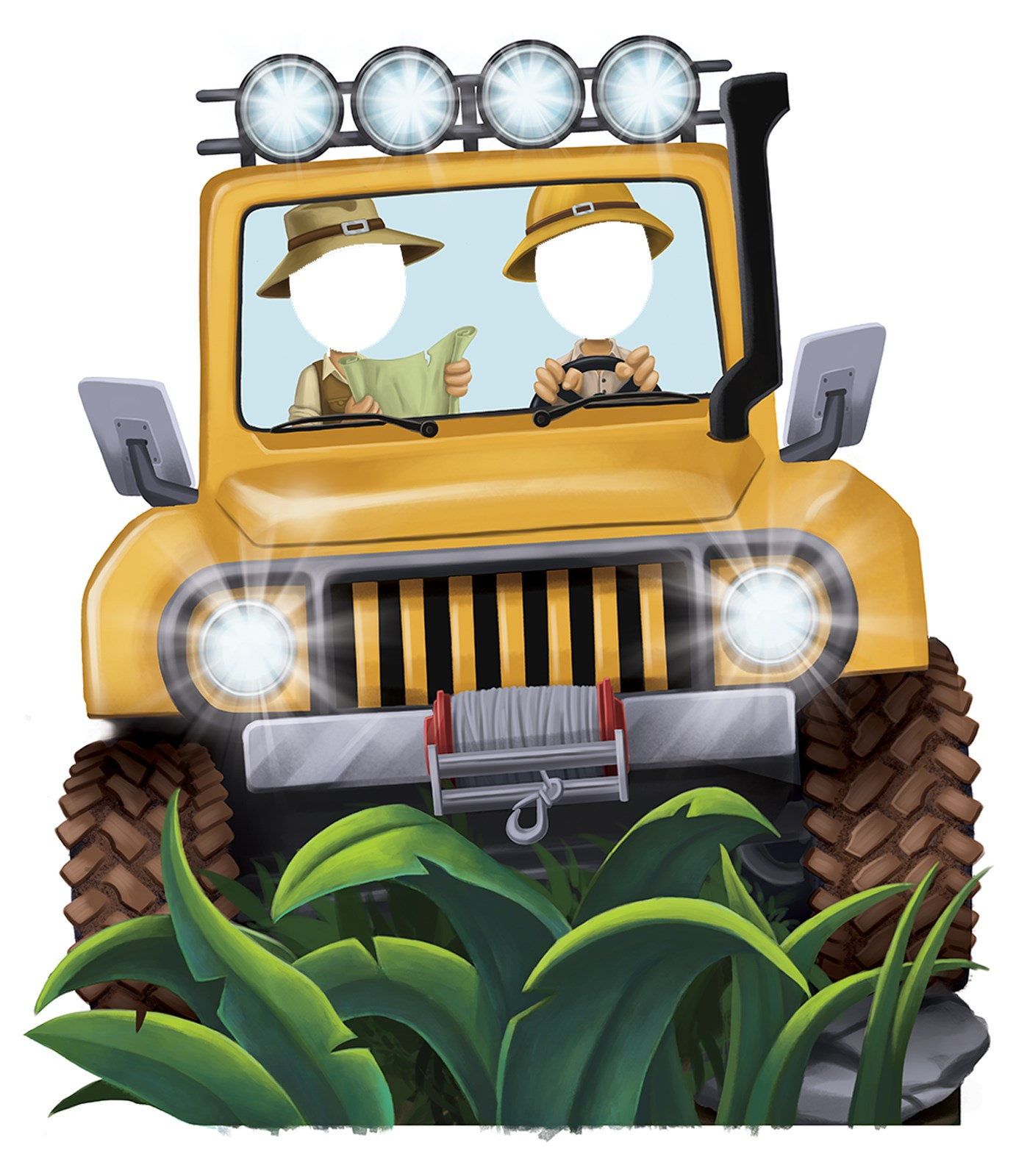 Jungle Party Jeep Standee Prop 45 Tall