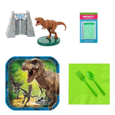 Jurassic Wolrd Tableware and Cake Topper Kit