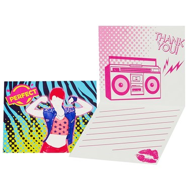Just Dance Thank-You Notes