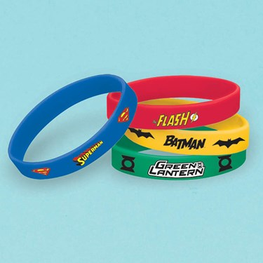 Justice League Rubber Bracelets (6)