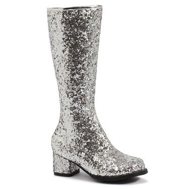 Kids Silver Glitter Gogo Boots