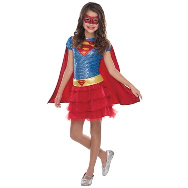 Kids Supergirl Sequin Costume