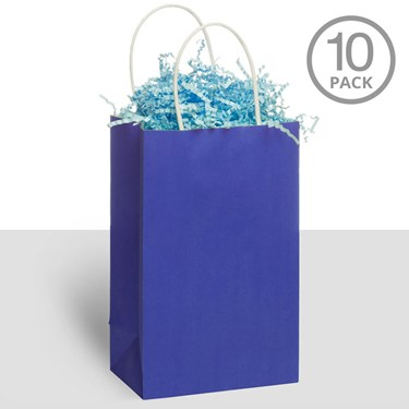 Kraft Handle Bags Blue (10)