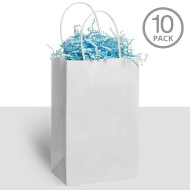 Kraft Handle Bags White (10)