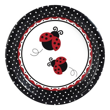 LadyBug Fancy Banquet Dinner Plates