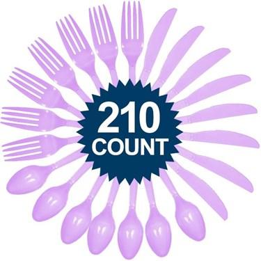 Lavender Cutlery Set (210 Pack)