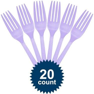 Lavender Plastic Forks