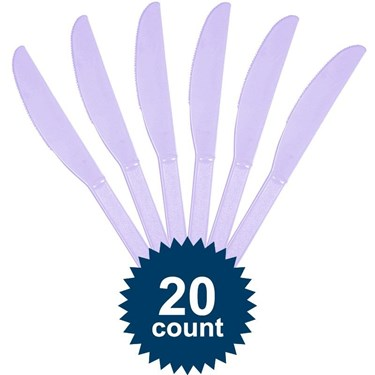 Lavender Plastic Knives