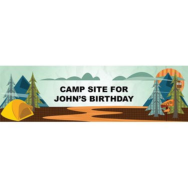 Let's Go Camping Personalized Vinyl Banner