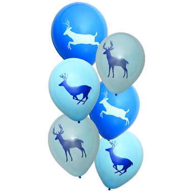 "Light Blue Camo Buck 12"" Latex Balloons"
