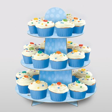 Light Blue Cupcake Stand (1)