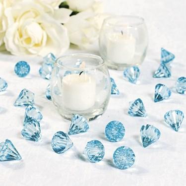 Light Blue Diamond Table Scatter