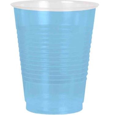 Light Blue Plastic 16oz. Cup (50 Pack)