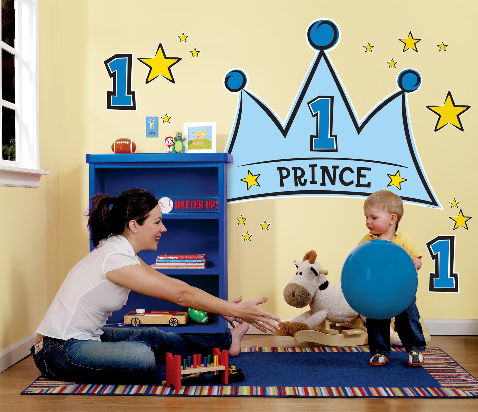 Lil Prince 1st Birthday Giant Wall Decals BirthdayExpresscom