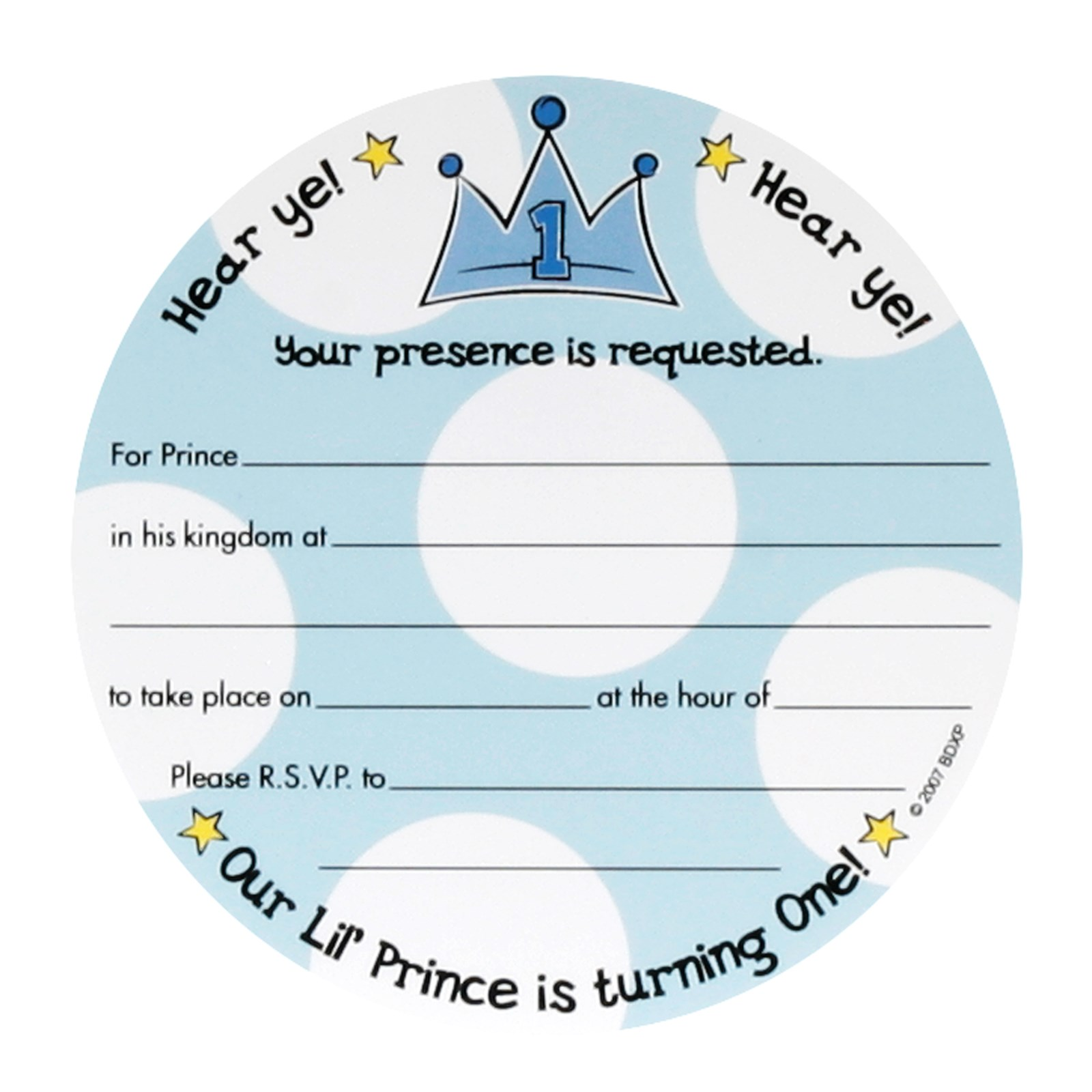 Lil\' Prince 1st Birthday Invitations | BirthdayExpress.com