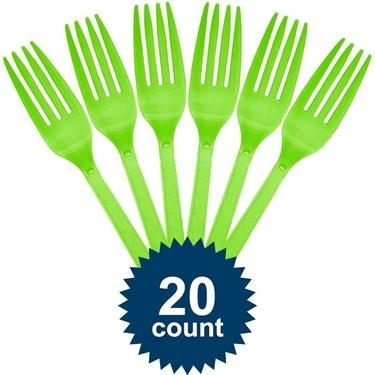 Lime Plastic Forks