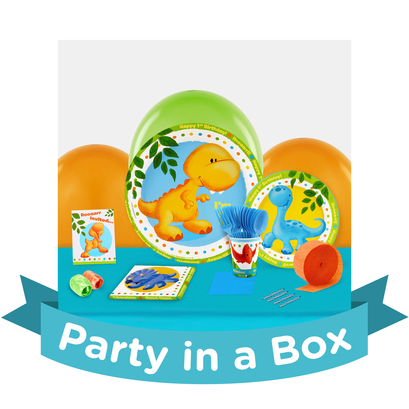 Little Dino 1st Birthday Party in a Box BirthdayExpresscom