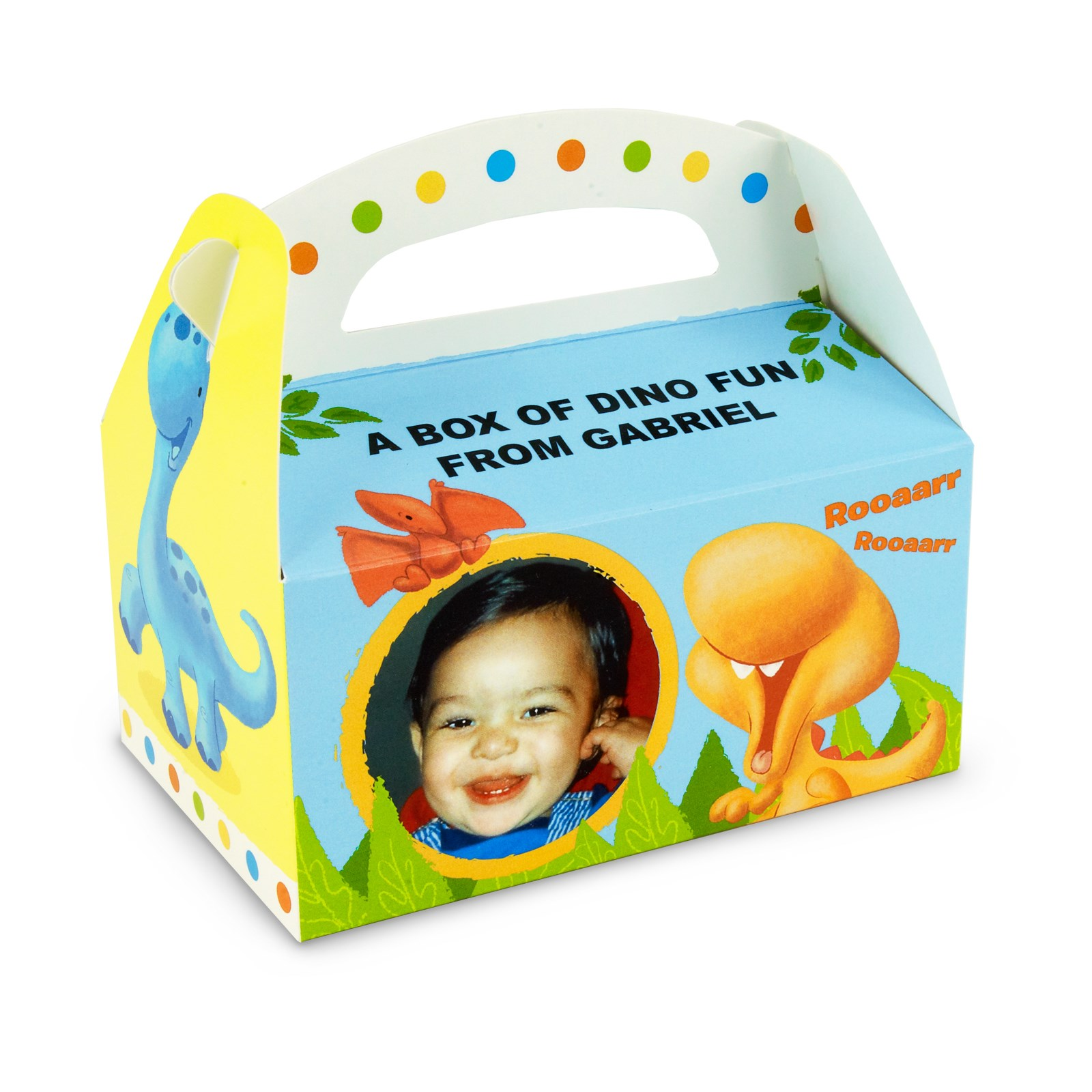 Personalized 1st Birthday Favor Boxes : Little dino st birthday personalized empty favor boxes
