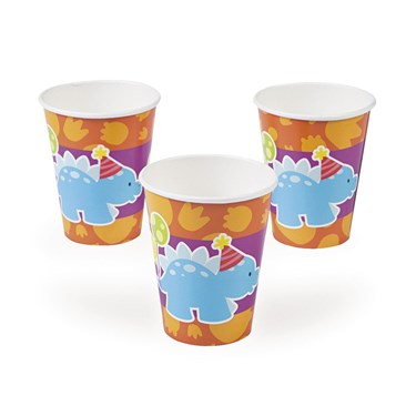 Little Dino 9 oz Paper Cups (8)