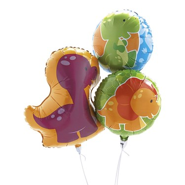 Little Dino Mylar Foil Balloons (3)