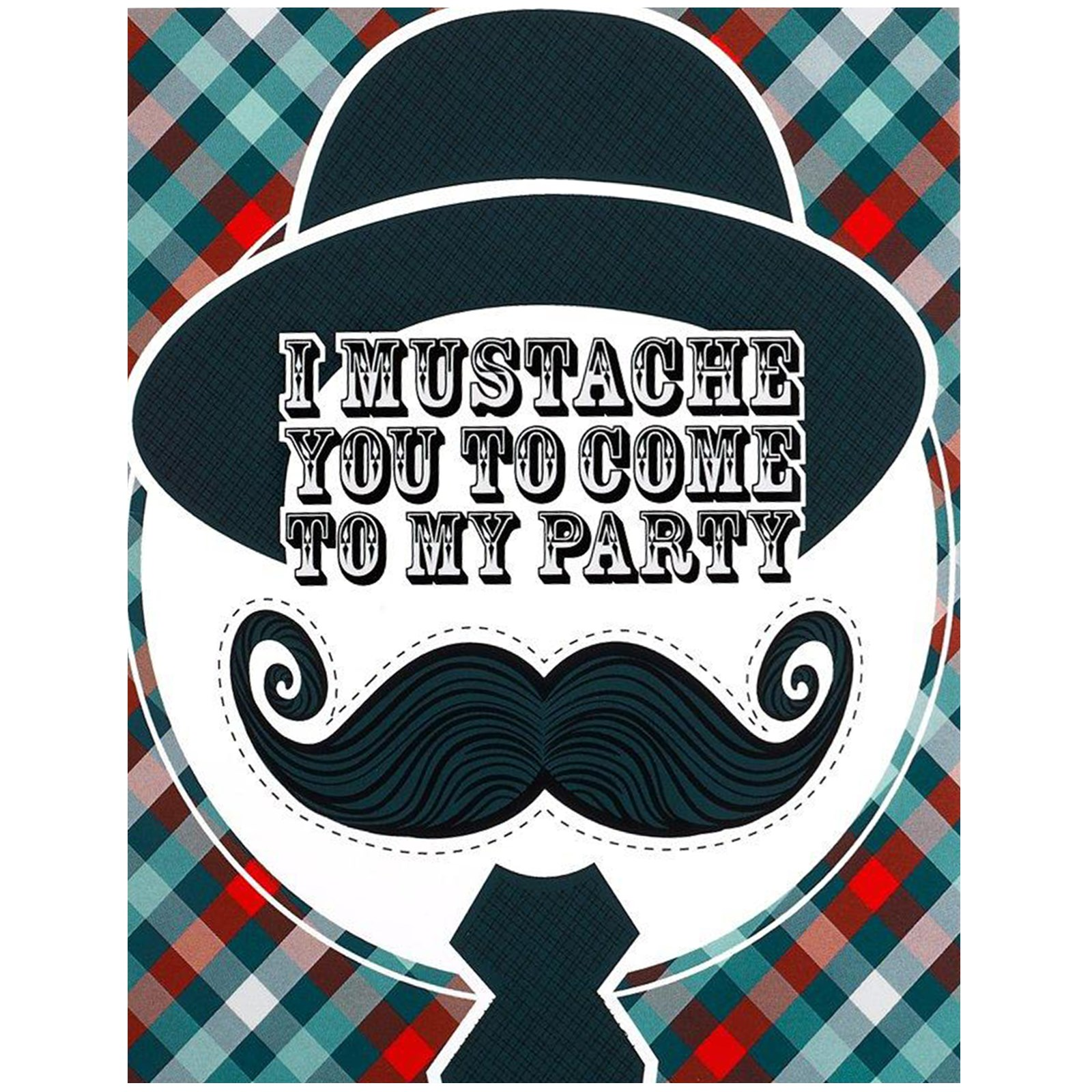 default image little man mustache invitations - Mustache Party Invitations