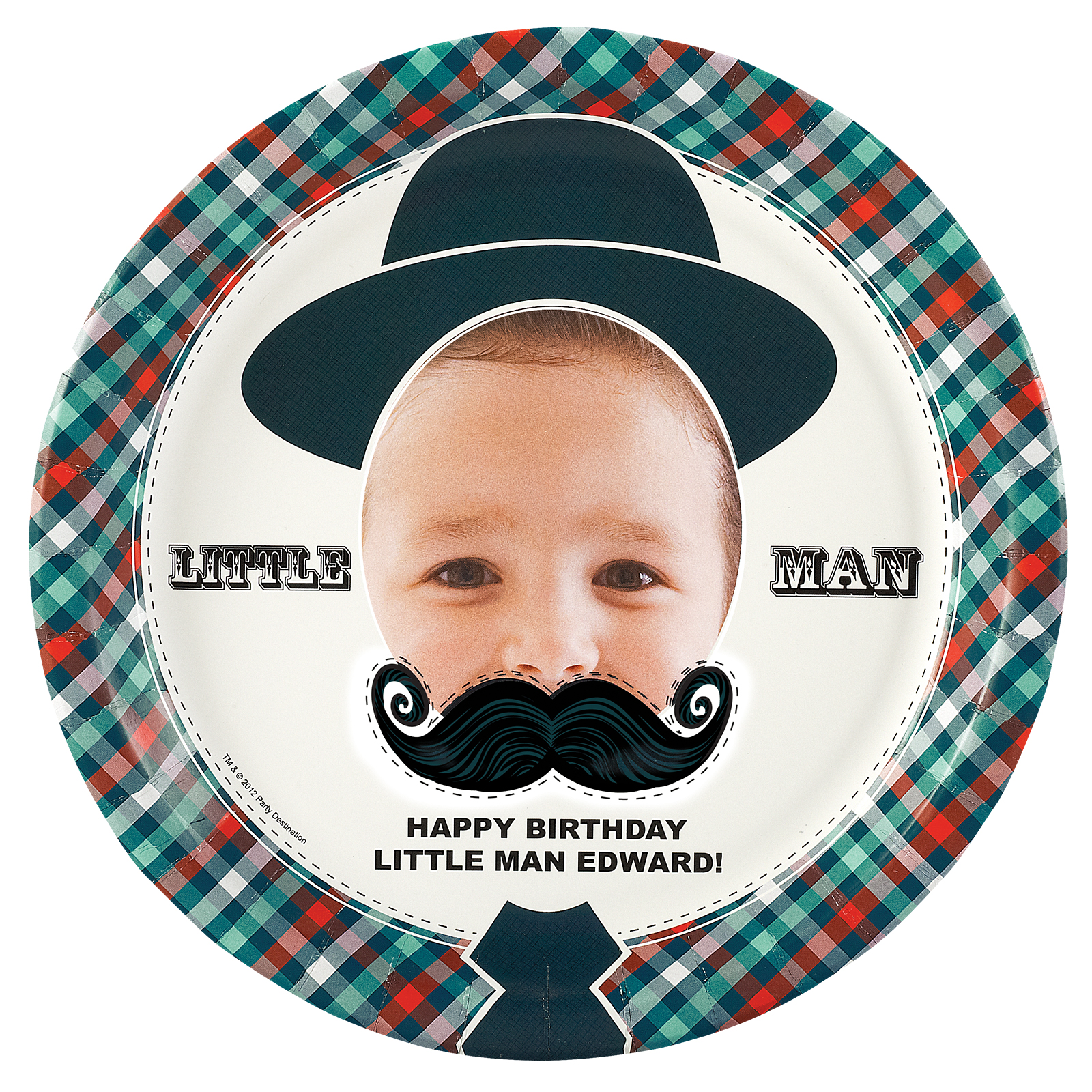 Default Image - Little Man Mustache Personalized Dinner Plates  sc 1 st  Birthday Express & Little Man Mustache Personalized Dinner Plates | BirthdayExpress.com