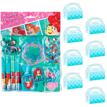 Little Mermaid Filled Favor Box Kit  (For 8 Guests)