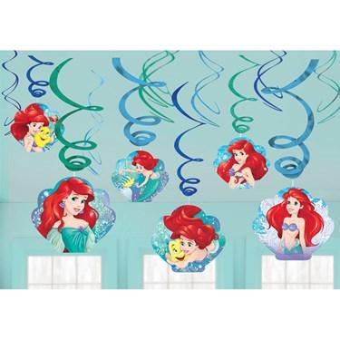 Little Mermaid Foil Swirl Hanging Decor