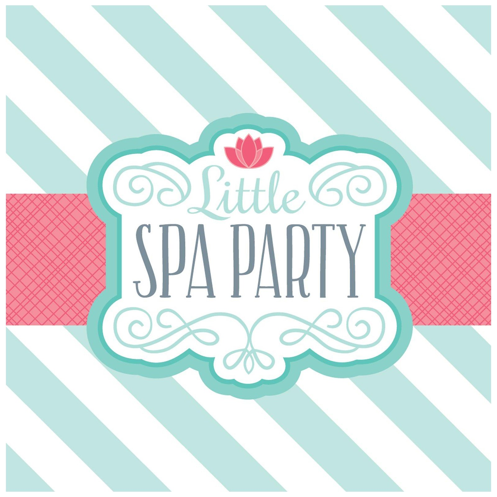 Little Spa Party Lunch Napkins | BirthdayExpress.com