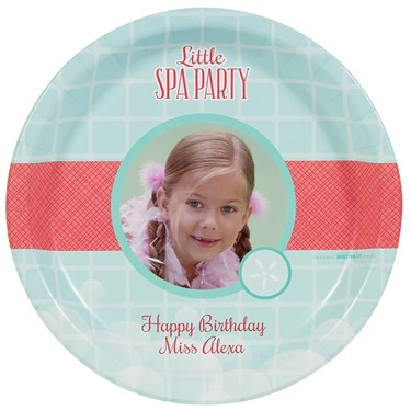 Little Spa Party Personalized Dinner Plates (8)