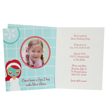 Little Spa Party Personalized Invitations (8)
