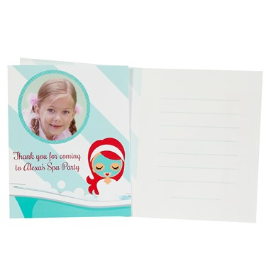 Little Spa Party Personalized Thank-You Notes (8)