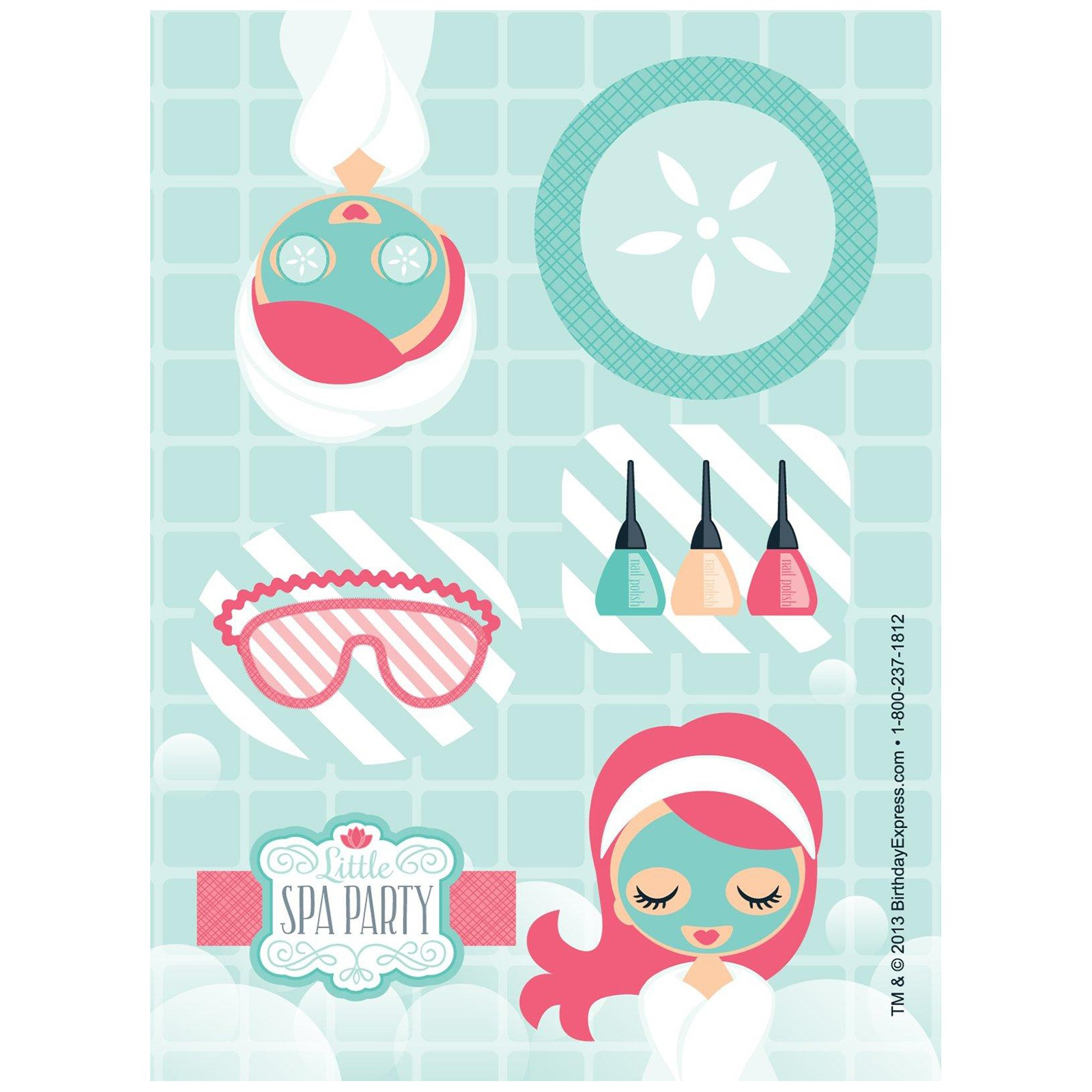Little Spa Party Sticker Sheets | BirthdayExpress.com