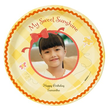 Little Sunshine Personalized Dinner Plates (8)