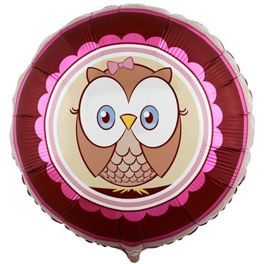 Look Whoo's 1 Pink Foil Balloon