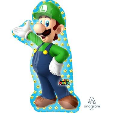 """Luigi 38"""" Shaped Foil Jumbo Balloon"""