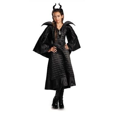 Maleficent Deluxe Christening Black Dress Girls Costume