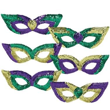Mardi Gras  Party Masks (6)