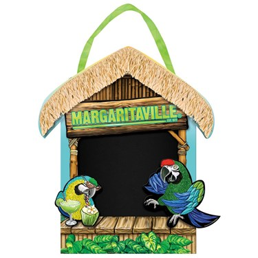 Margaritaville Chalkboard Easel Sign with Ribbon Hanger