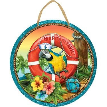 Margaritaville Parrot Hanging Sign