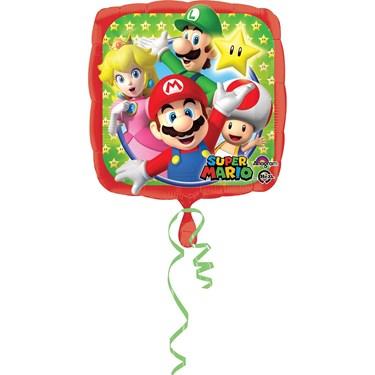 """Mario Bros 17"""" Foil Balloon"""