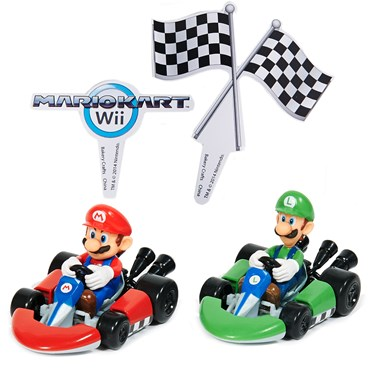 Mario Kart Wii Cake Topper (4 Pieces)