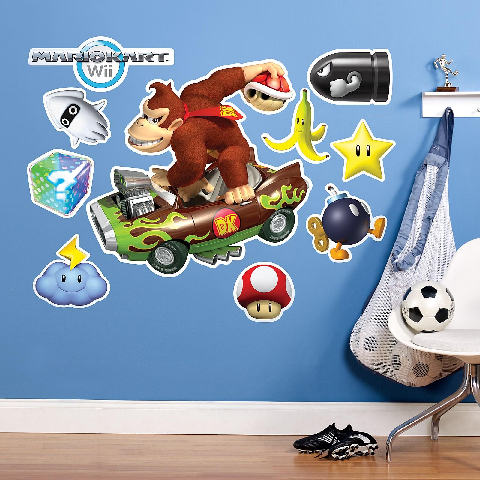 Mario Kart Wii Donkey Kong Giant Wall Decal