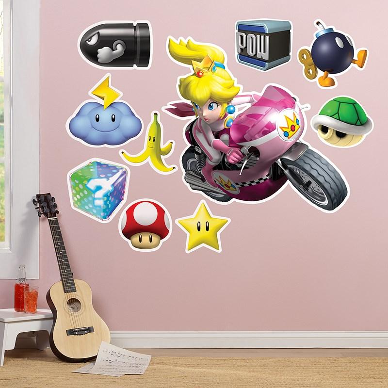 mario kart wii princess peach giant wall decal