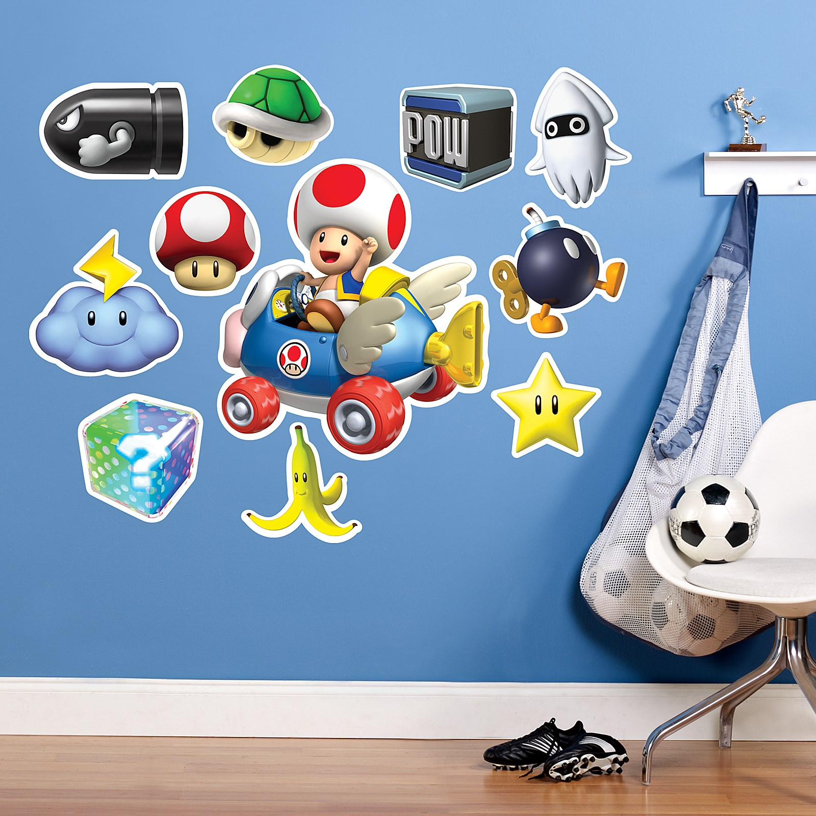 Mario kart wii toad giant wall decal - Super mario giant wall decals ...