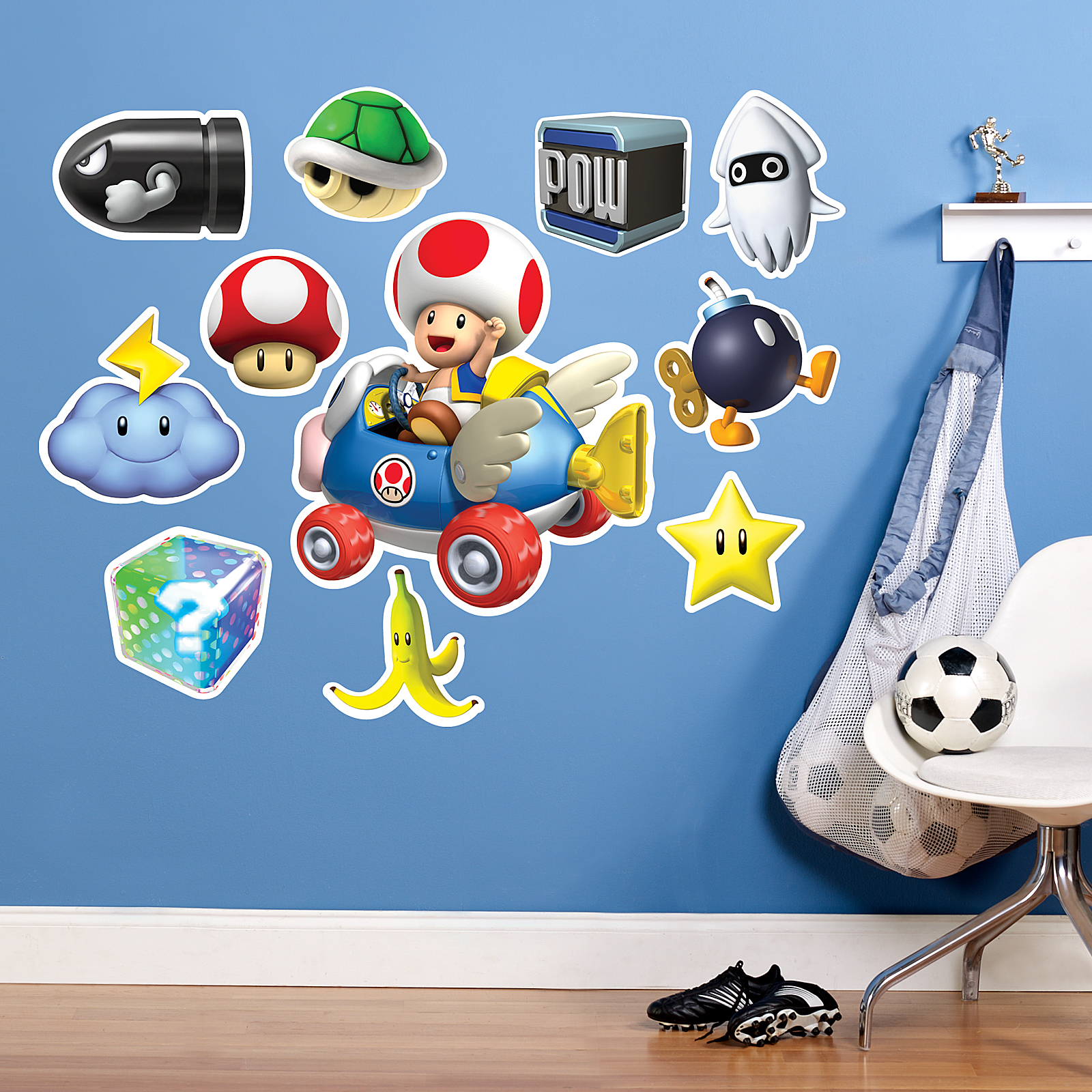 Default Image   Mario Kart Wii Toad Giant Wall Decal Part 63