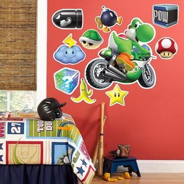 Mario Kart Wii Yoshi Giant Wall Decal