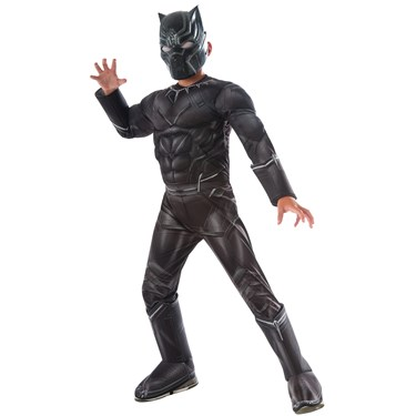 Marvel's Captain America: Civil War - Black Panther Deluxe Muscle Chest Kids Costume
