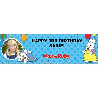 Max & Ruby Personalized Photo Vinyl Banner